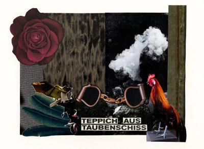 Teppich aus Taubenschiss - carpet of doves shit , Bildcollage, Collage, Kunst, Berlin, zaradekis