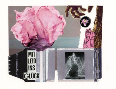 mit Leid ins Glueck - with sorrow into happiness, Bildcollage, Collage, Kunst, Berlin, zaradekis