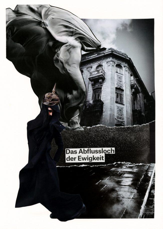 Bildcollage, Zara de Kis, analoge Kunst, cut and paste